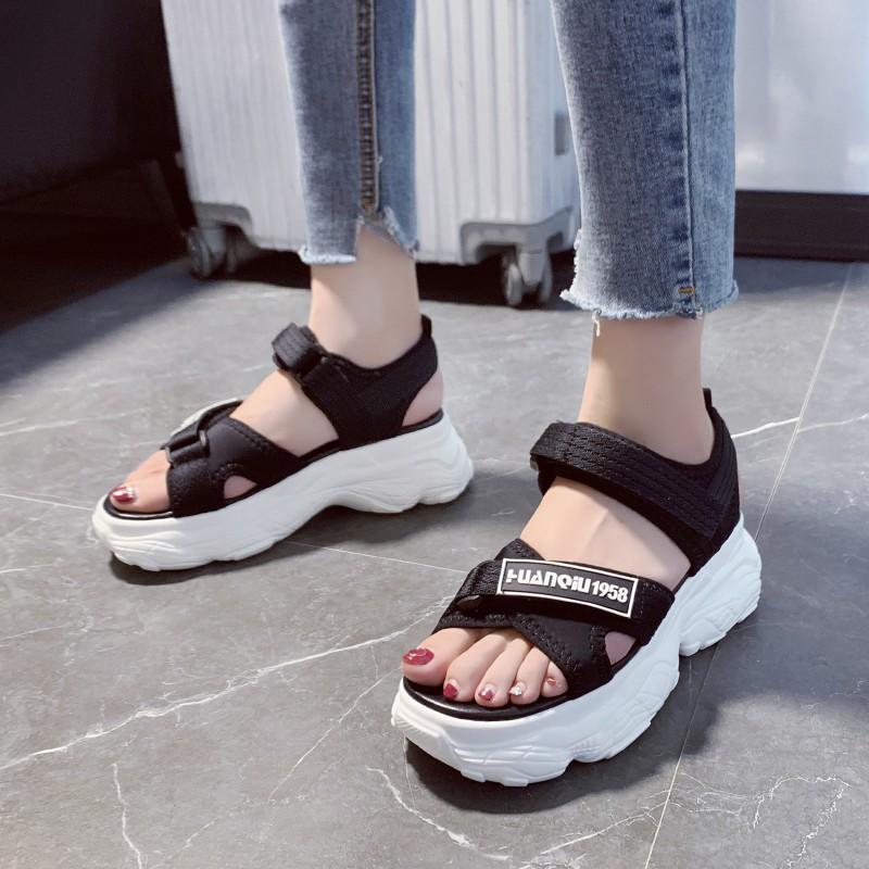 [พร้อมส่ง] ?รองเท้ารัดส้น ALLEY เสรืมส้นหนาถึง 6 เซนติเมตร สายปรับได้