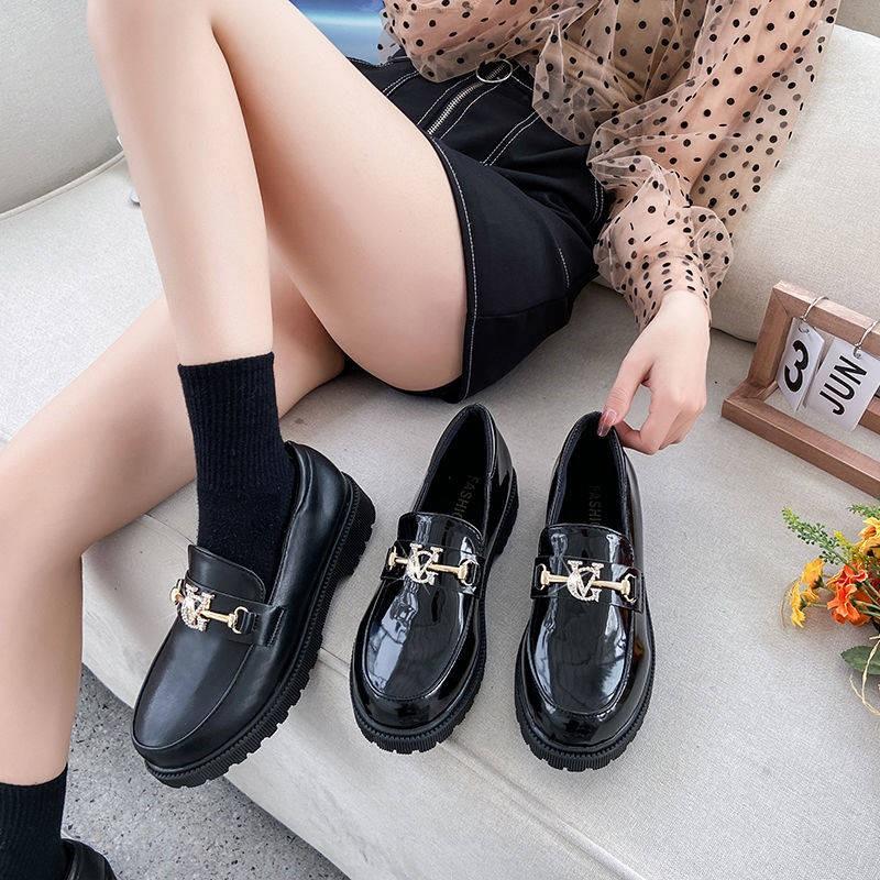 ร้องเท้า รองเท้าคัชชู รองเท้าผู้หญิง ♫2021 รองเท้าใหม่, น้ำเด็ก, ฤดูใบไม้ผลิ, ฤดูใบไม้ร่วง, หนึ่งเท้า, เพลง, รองเท้า, สี