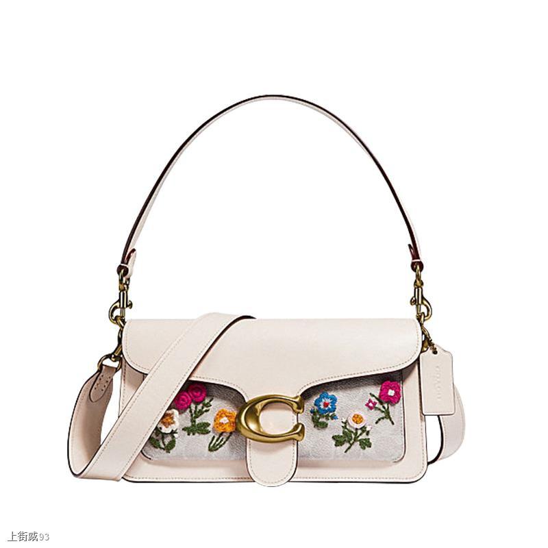 ■♕▩[ขายตรง] Coach กระเป๋าสะพายข้างผู้หญิงปักดอกไม้ลายดอกไม้ Messenger Bag 627