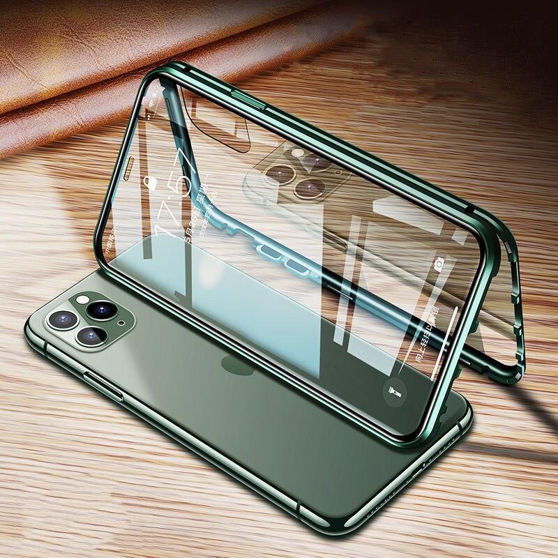 เคสโทรศัพท์มือถือแบบสองด้านสําหรับ Iphone 11 Pro Max Xs Xr