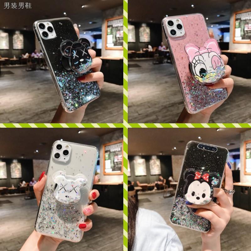เตรียมจัดส่ง♥เคส Samsung M51 A21S A9 A7 A6 A6+ J8 J7 J6 J6+ J4 J4+ Plus Pro Prime 2018 Glitter Sequin Phone Case with C1