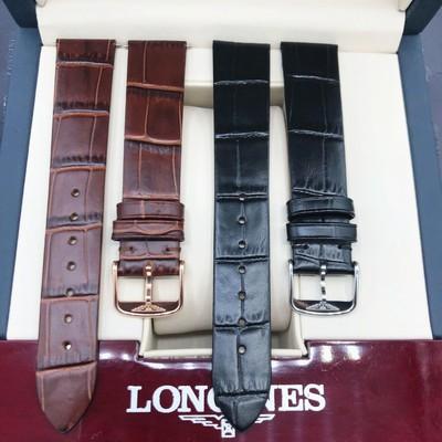 ☠ぬนาฬิกา 22mmสายนาฬิกาสายนาฬิกา applewatchสายนาฬิกา Longines Jialan หนังผู้ชายและผู้หญิงแท้ L4อันงดงาม Luya Series Jiala
