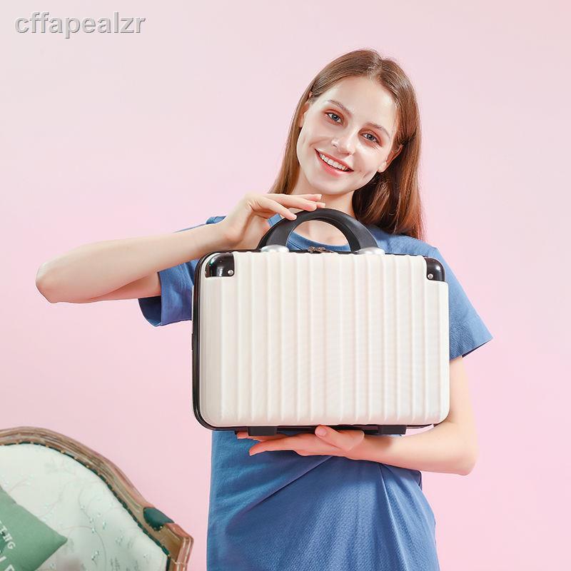 กระเป๋าใส่เครื่องสำอางกระเป๋าถือ 14 นิ้วมินิน่ารัก 16 นิ้วน้ำหนักเบากระเป๋าเดินทาง 12 นิ้วกระเป๋าเดินทางขนาดเล็กเคสแข็ง
