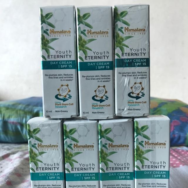 🇮🇳 ขนาดจิ๋ว ราคาสบายกระเป๋า !  🇮🇳Himalaya youth eternity day cream 10ml ครีม หิมาลายา สเต็มเซลล์ จากพืช SPF 15