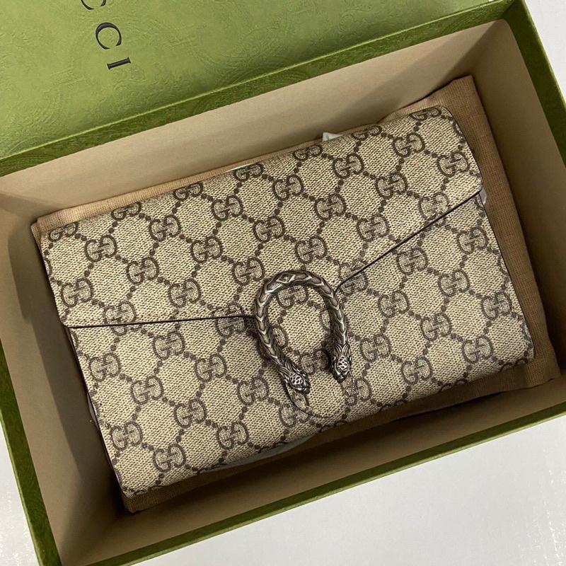 กระเป๋าแท้Gucci Wallet on Chain / WOC Dionysus Beige สีเบจ กระเป๋า กุชชี่ ของแท้ ส่งฟรีEMS⚡️ทุกรายการ