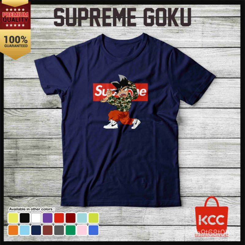 แท้100%Supreme Goku Premium เสื้อเชิ้ตสําหรับผู้ชายผู้หญิง