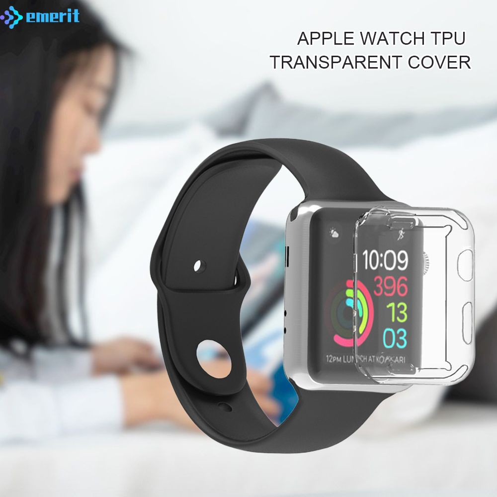 EM For Apple Watch/2/3/4 Generation Watch Frame Iwatch Protection TPU Case Anti-drop Shell 38/42/40/44mm EM