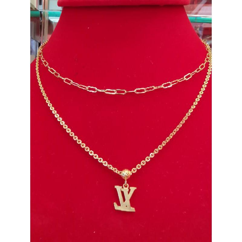 สร้อยคอทองแท้ 96.5% น้ำหนัก 2 สลึง ไซ้รยาว 21.5cm ยาวไม่รวมจี้ เส้นสั้น 19.5cm ราคา 15,800บาท