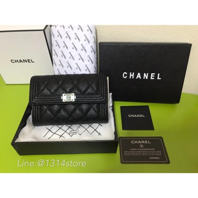 Chanel boy medium wallet พร้อมส่ง