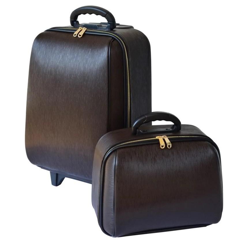 กระเป๋าเดินทาง กระเป๋าเดินทางล้อลาก BB-Shopเซ็ทคู่18/14 นิ้ว L-Louise Classic (Dark Brown)  กระเป๋าล้อลาก กระเป๋าเดินทาง