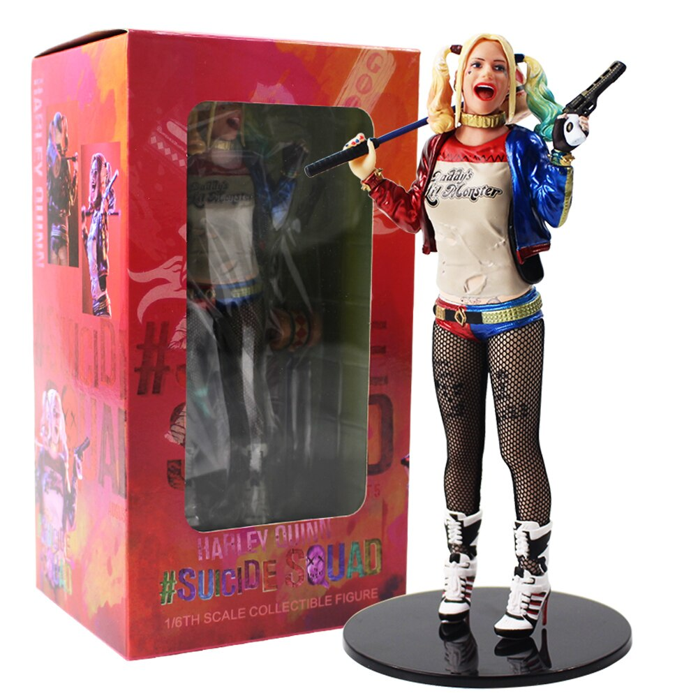 Suicide Squad Harley Quinn Action Figure Toy Harley Quinn With Hammer and Gun Collectible Model Doll