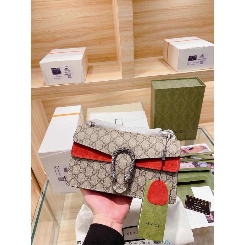 [กระเป่าผู้หญิง]ต้นฉบับ Gucci Dionysus ใหม่ 2020 งูหัวชั้นเดียว Bacchus กระเป๋าผู้หญิงกระเป๋ากระเป๋าสะพาย