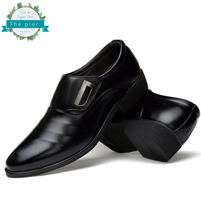 ราคาโรงงาน แฟชั่น รองเท้าหนังผู้ชายรองเท้าสูทหนังสีดำ สำหรับผู้ชาย รองเท้าคัชชูหนังชาย รองเท้าทำงานผู้ชาย T314 iPQk