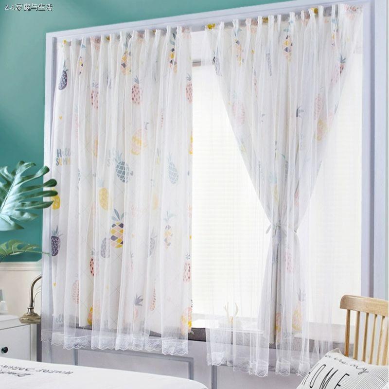 ♧✌ส่งจากไทย ผ้าม่านหน้าต่าง ผ้าม่านสำเร็จรูป ม่านประตู 2ชั้น ผ้าม่านโปร่งแสง ใช้ตีนตุ๊กแก