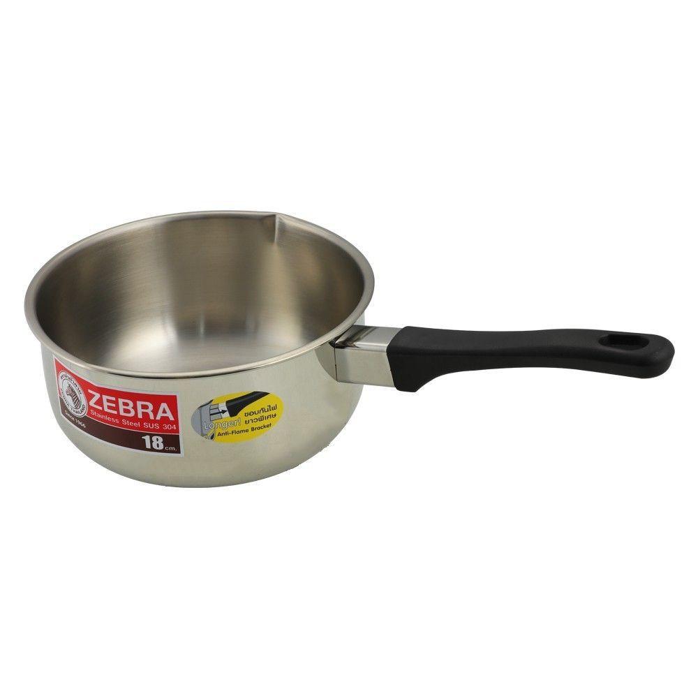 หม้อด้ามญี่ป่น ZEBRA 18 ซม. เครื่องครัว Kitchenware Cookware Pan Wok Pot