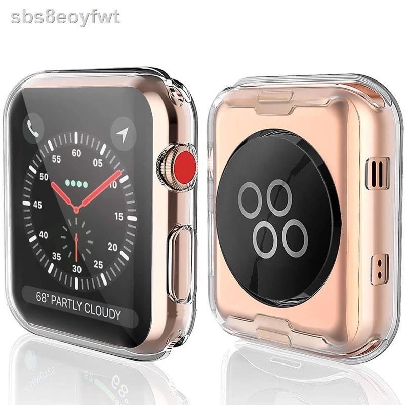เคสและซองมือถือ✣เคส สำหรับ AppleWatch case ขนาด 38 มม. 40 42 44 ซิลิโคนอ่อนนุ่มหุ้มใสสำหรับ iWatchSeries 6/5/4/3/2/1