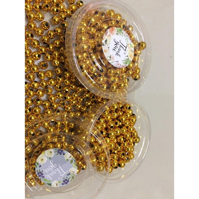 ลูกปัดทองราคาถูก ลูกปัดทองมีรู ลูกปัดทอง