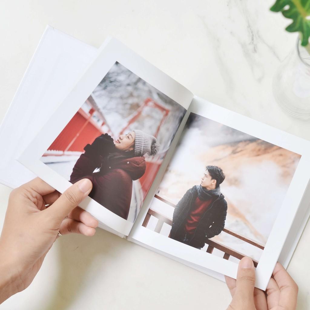 Photobook: โค้ดแลกซื้อ โฟโต้บุ๊คทำง่าย ปกแข็ง 6x6 นิ้ว ทำเองบนแอป, 20 หน้า (1 รูปต่อ 1 หน้า)