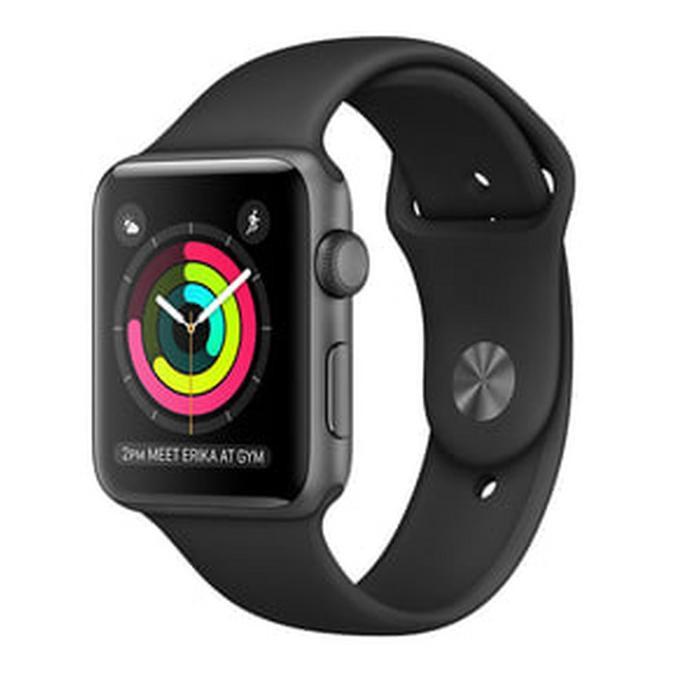 สายนาฬิกาข้อมือ Applewatch 2 Series 1 38มม. สีเทาอลูมิเนียม + สายรัดข้อมือสีดํา