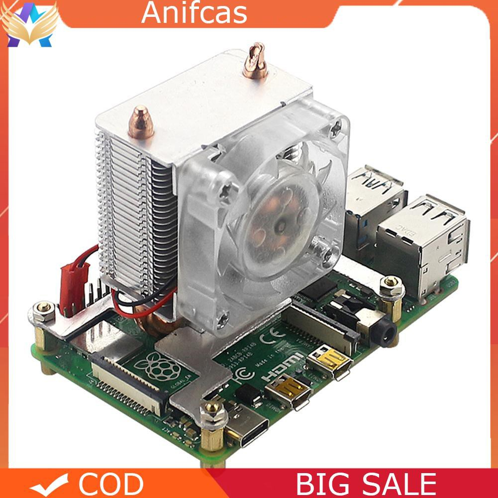✿Raspberry Pi 40mm LED CPU Cooling Fan 5mm Copper Tube Cooler Tower Heatsink