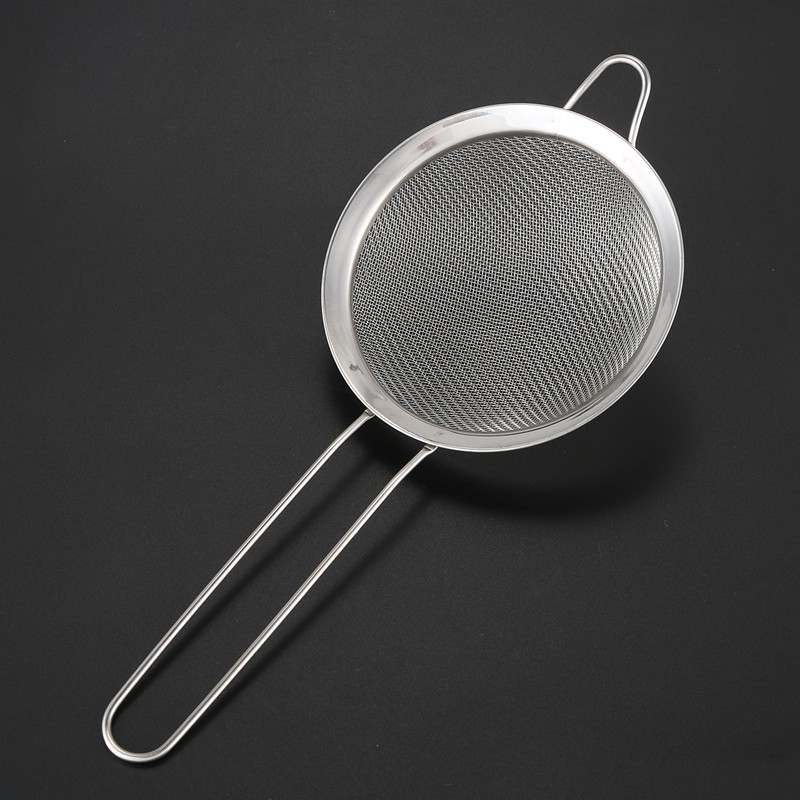 Metal Mesh Sieve Strainer Kitchen Baking Cooking Handle Colander