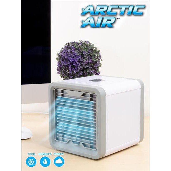 tech100k บ้าน คอนโด พัดลม แอร์ เคลื่อนที่ (ส่งฟรี) พัดลมไอน้ำตั้งโต๊ะ ARCTIC AIR