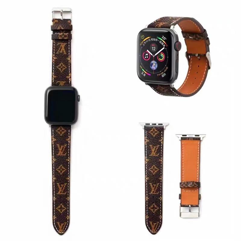 สายนาฬิกาข้อมือหนังวัวแท้ Iwatch Band Lv 2 Tide Applewatch 5 Generation 3