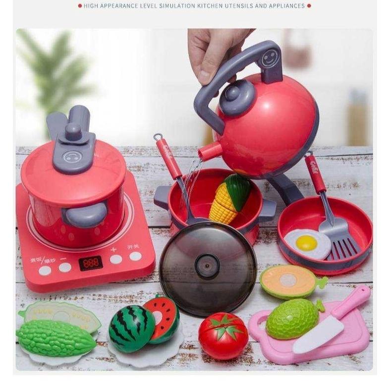 ของเล่นชุดเครื่องครัวพร้อมเตา ชุดครัวของเล่นเด็ก ของเล่นบทบาทสมมุติ