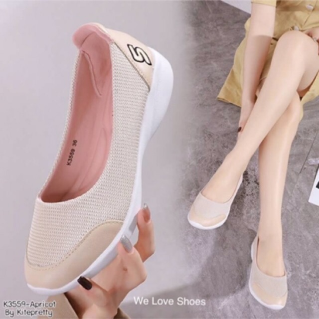 รองเท้าคัชชูเพื่อสุขภาพส้นเตี้ย