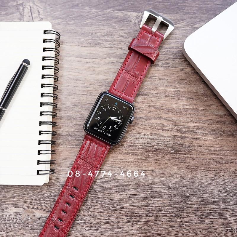 สายนาฬิกา Apple Watch หนังจรเข้แท้  พร้อมส่ง