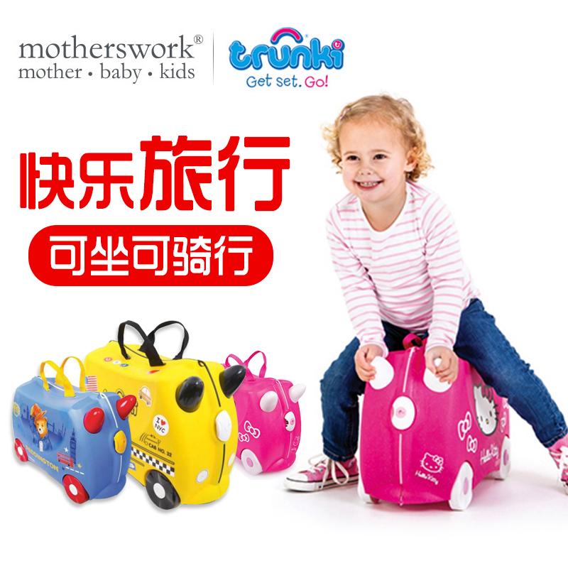 ☄❈ กระเป๋าเดินทางล้อลาก กระเป๋าเดินทางล้อลากใบเล็กกระเป๋าเดินทางการ์ตูนเด็กTrunkiสามารถนั่งและนั่งทารกขึ้นเครื่องมัลติฟั