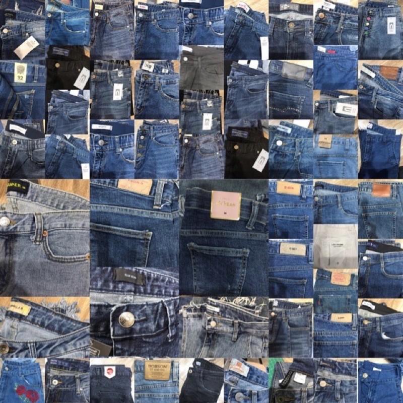 [รหัส ข] กางเกงยีนส์เกาหลีนำเข้า จัดโปรโมชั่น 150฿ทุกตัว (ปกติ390฿) สินค้าไลฟ์สดจ้า.