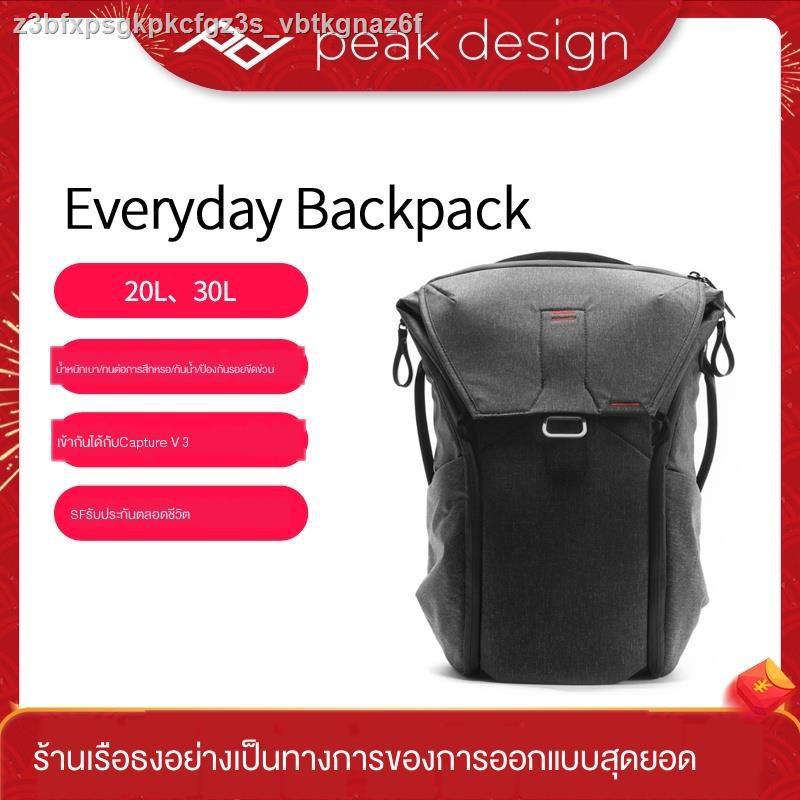 เป้สะพายหลังกล้อง◆◊Peak Design กระเป๋าเป้สะพายหลัง PeakDesign Everyday Backpack 20L 30L ความจุขนาดใหญ่สำหรับการเดินทาง