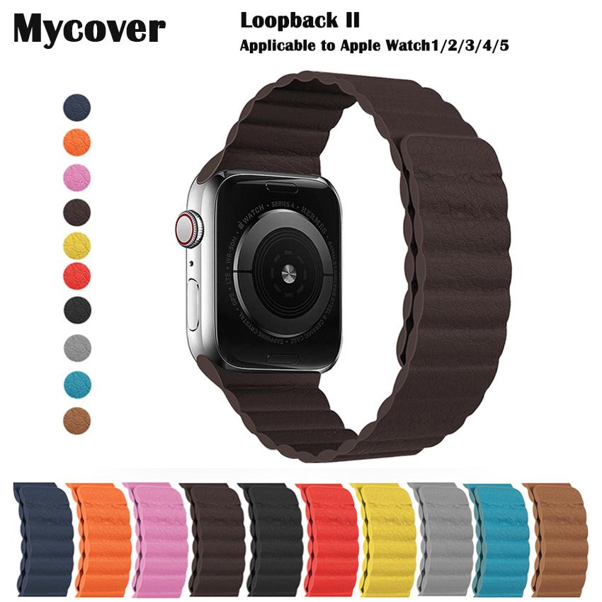 สายนาฬิกาข้อมือหนัง สําหรับ Apple Watch Band 44 มม. 40 มม. 38 มม. 38 มม. 42 มม. Iwatch Series 5 4 3 2 1 M7iu