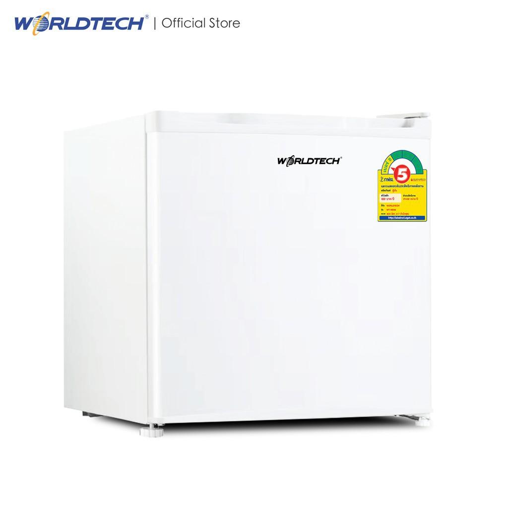 ┋☋Worldtech ตู้เย็นมินิบาร์ 1.7 คิว รุ่น WT-MB48 ตู้เย็นขนาดเล็ก Mini Bar ทำน้ำแข็งได้ 1 ประตู 46 ลิตร ประหยัดไฟเบอร์ 5