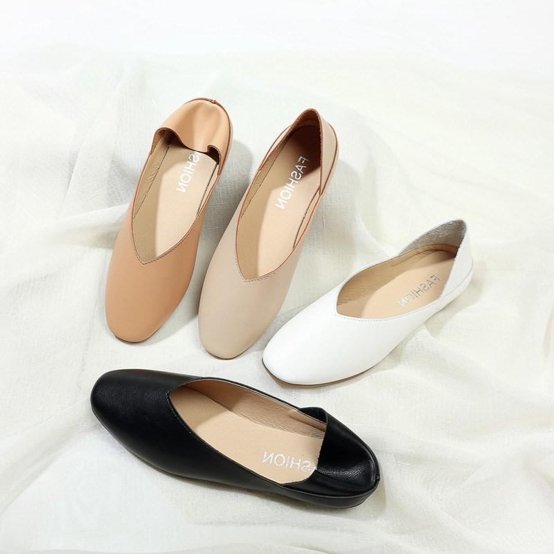 ❤️รองเท้าหัวแหลม รองเท้าส้นแบน รองเท้าผู้หญิงแฟชั่นมี รองเท้าคัชชู รองเท้าผู้หญิง ส้นเตี้ย นิ่มมากไม่เจ็บเท้า