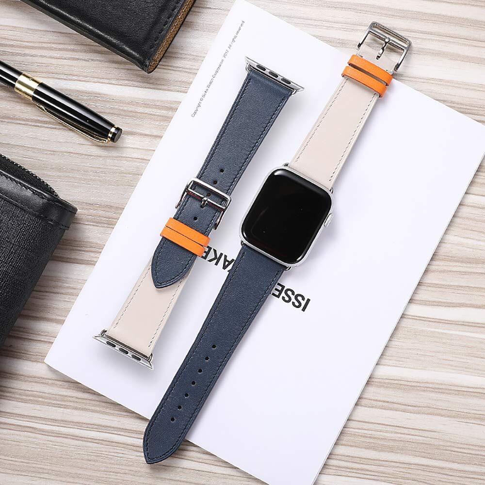 สายหนัง สายนาฬิกา applewatch สายนาฬิกาสำหรับApple watch ใส่ได้ series SE/6/5/4/3/2/1 มี2ขนาด 38/40mm 42/44mm