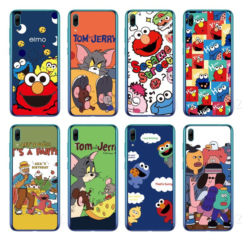 Review Cartoon Sesame Street Back Cover Huawei Y7 Pro 2019 / Y7 2019 / Y7 Prime 2019 Soft TPU Case