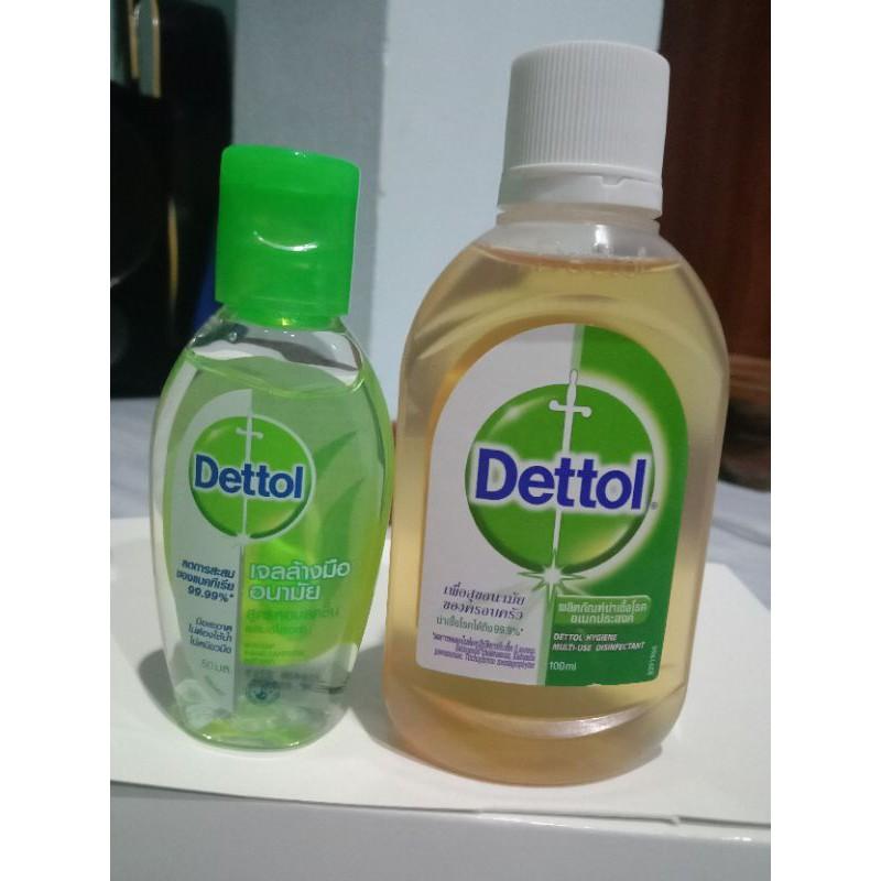 เดทตอล น้ำยาฆ่าเชื้อ+เจลล้างมือ เดทตอล