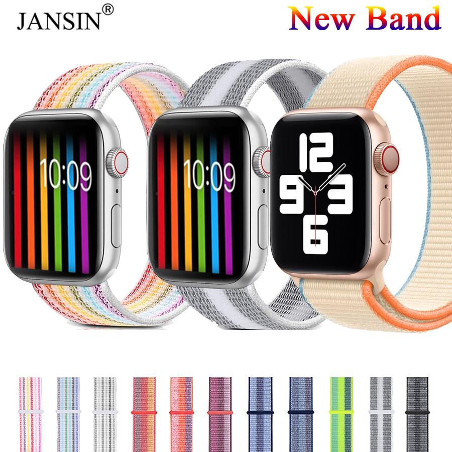 【ตามเรามา฿ 10】สาย apple watch สายนาฬิกาข้อมือไนล่อน Apple Watch 6 44 40 38 42 มม iwatch series 6 se 5 4 3 2 1band
