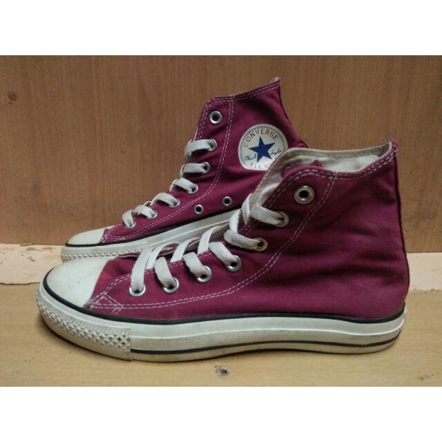 Converse คอนเวิร์สหุ้มข้อ รองเท้าผ้าใบมือสองแท้