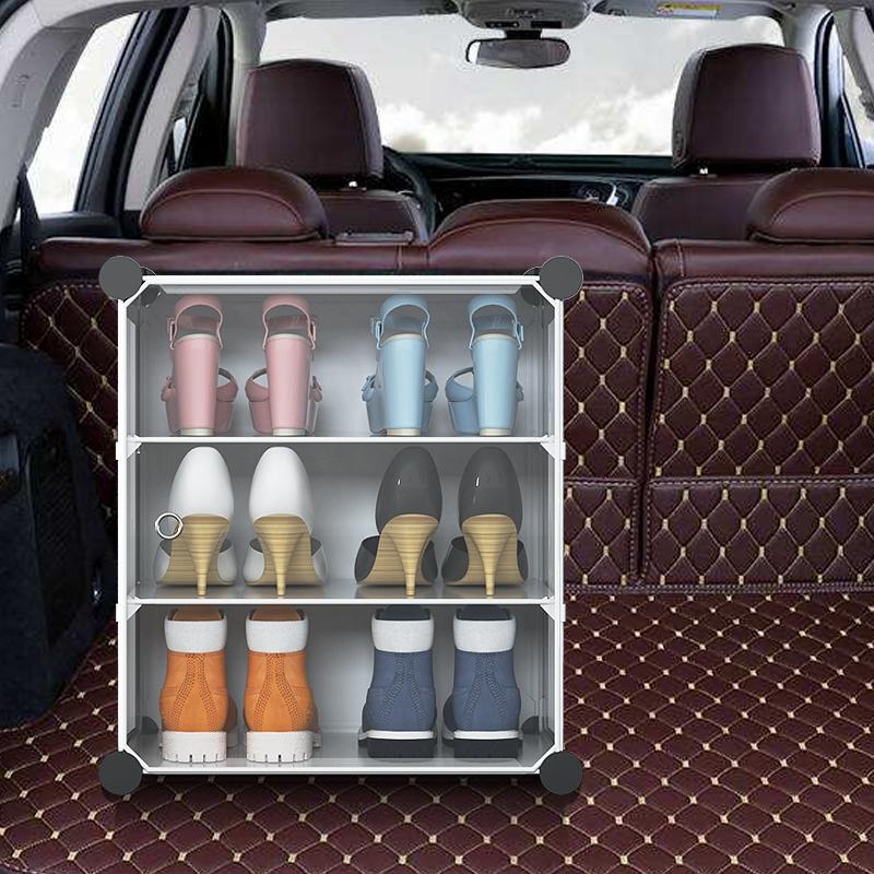 รถกล่องรถใส่รองเท้ารองเท้าจัดเก็บลำต้นรถสิ่งประดิษฐ์กล่องเก็บกล่องรองเท้า