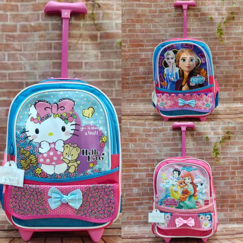 กระเป๋าเดินทางล้อลากลายการ์ตูน Frozen Hello Kitty ขนาด 14 นิ้ว