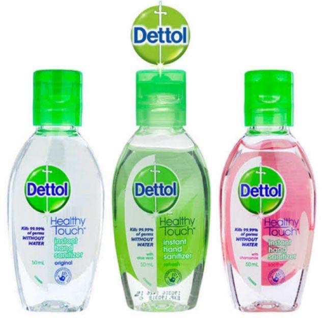 Dettol instant hand sanitizer ฉลากอังกฤษ นำเข้า เจลล้างมือ 50ml เดทตอล