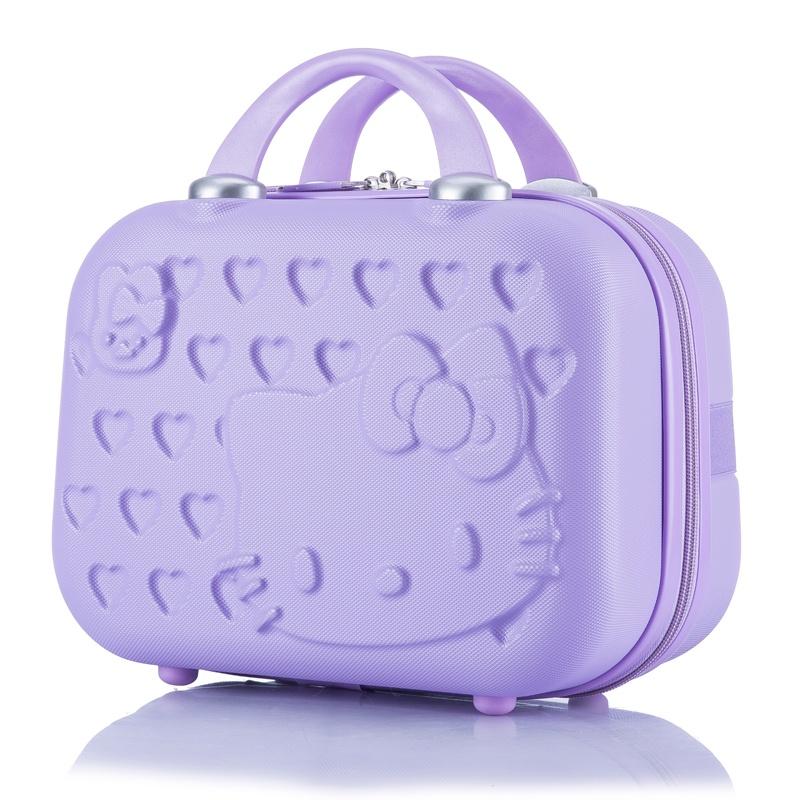 ❗เริ่มจัดส่ง❗✟กระเป๋าเดินทางขนาดเล็ก กระเป๋าเดินทางใบเล็กน่ารัก การ์ตูน 14 นิ้ว เครื่องสำอาง กระเป๋า กระเป๋าเดินทาง กระเ