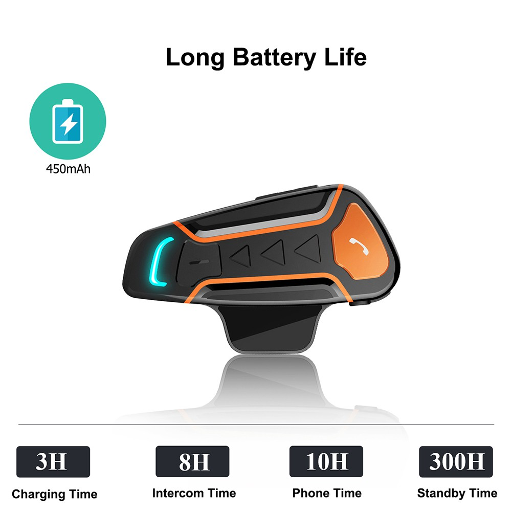 1000 m Bluetooth walkie-talkie motorcycle helmet headset for