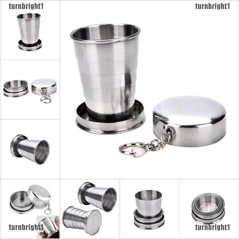 Stainless Steel Portable Folding Cups Telescopic Collapsible Travel Camping Cup