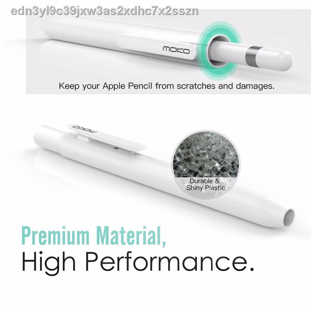 🔥#ราคาถูกMoko Protective Case Holder for Apple Pencil 1st/2nd with Built-in Clip,Retractable Tip Protection,Spring But