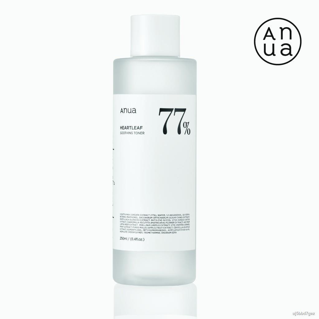 ☽ANUA : HEARTLEAF 77% SOOTHING TONER 250 ml