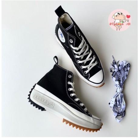 ของแท้ JW Anderson x Converse Run Star Hike ชื่อรองเท้าผ้าใบหนาเพิ่มขึ้นรองเท้าผู้หญิงรองเท้าสูงด้านบน